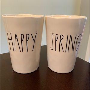 Rae Dunn Happy Spring cups